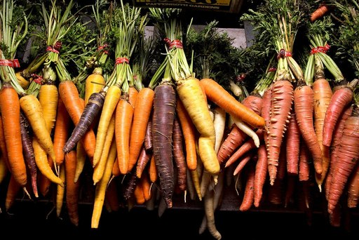mixed carrots rainbow nantes bunched